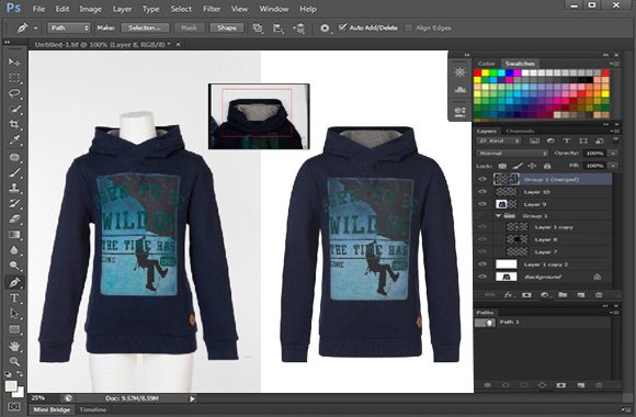 Image Manipulation Clipping With Shadow Working Process on Photoshop