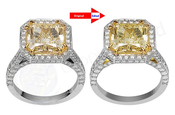 Jewelry Retouching service before after image